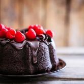 Chocolade cake met frambozen