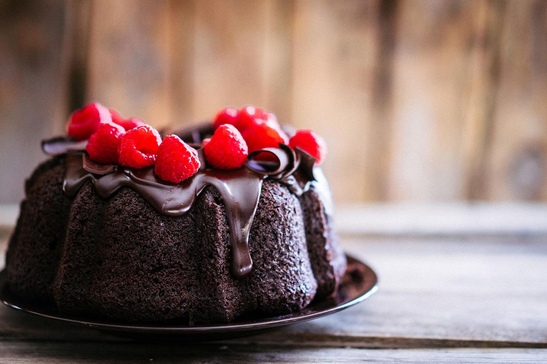 chocolade cake frambozen
