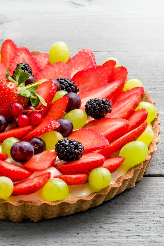 Fruittaart vers fruit en ambachtelijk bereid