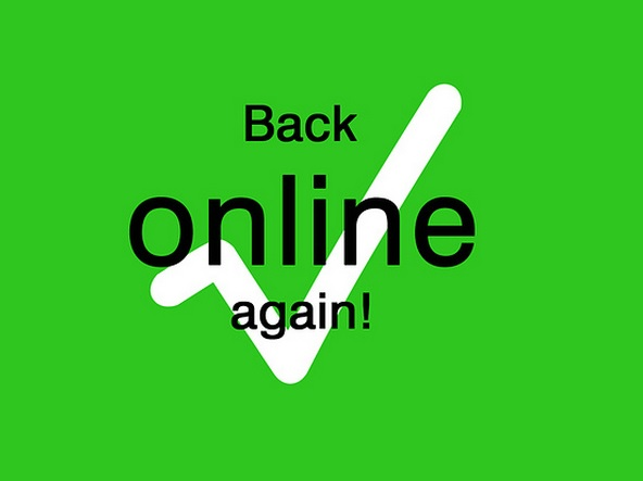 Online again